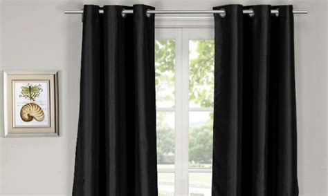 Opulence Blackout Solid Curtain Panels, Set Of 2 Pieces, Black [msn-blo-1] Size Of A Standard Shower Curtain Glenna Jean Curtains 18 Rods Design Ideas For Large Windows Single Door Aluminium Walls Window Pictures In Bathrooms