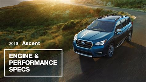 subaru ascent engine  performance specs youtube