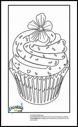 Cupcake Coloring Pages Cupcakes Cute Sheets Flower Colouring Printable Hard Sprinkles Template Coloring99 Books Cartoon Violet Purple Teamcolors Topper Getcoloringpages sketch template