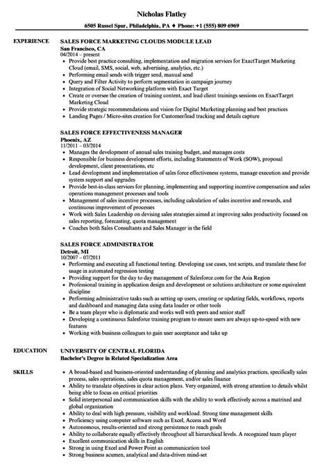 Salesforce Crm Testing Resume - salesforce