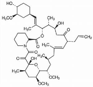 Chemical Structure of tacrolimus (FK506) | Download ...