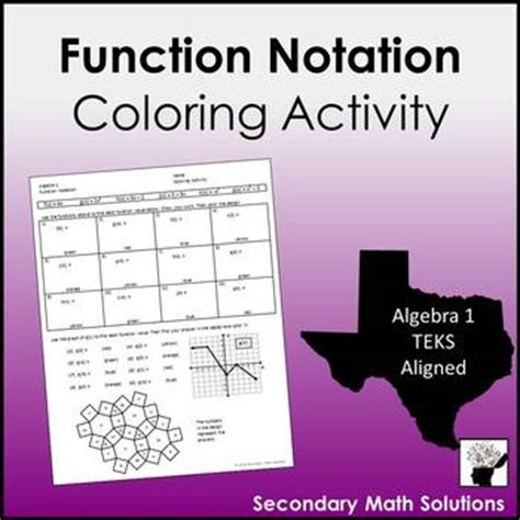 function notation coloring activity ab  secondary