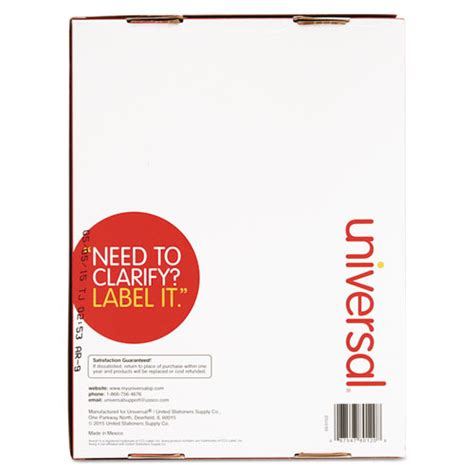 Universal Laser Printer Labels Template by Unv80120 Universal 174 Laser Printer Permanent Labels Zuma