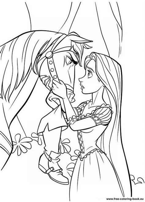 coloring pages tangled disney rapunzel page  printable coloring pages