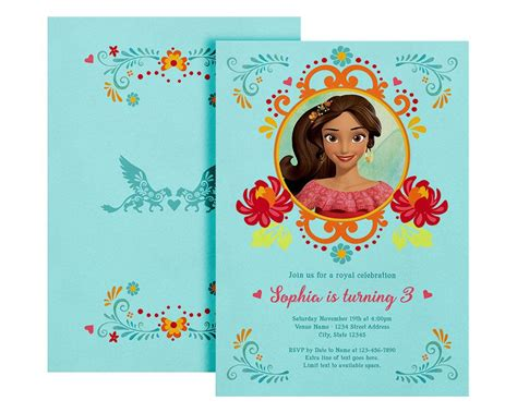 elena  avalor invite elena invitation printable elena