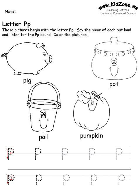 Learning Letters Worksheet  Free Printable Tracing Worksheet For The Letter P (site Has All