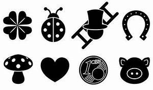 Symbole Für Glück : acht gl cksbringer symbole kleeblatt marienk fer schornsteinfeger hufeisen fliegenpilz ~ Udekor.club Haus und Dekorationen