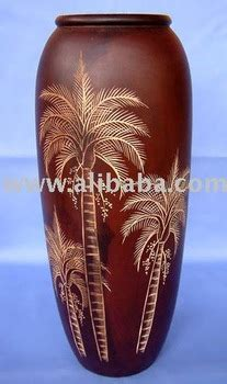 high quality teak wood carved wooden vase view wooden