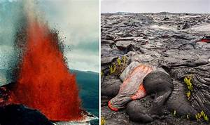 Hawaii Volcano Latest  Pahoehoe Lava Seen Entering The