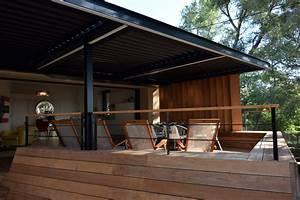 Pergola Bois Bioclimatique : pergola bioclimatique lames orientables art terrasse ~ Louise-bijoux.com Idées de Décoration