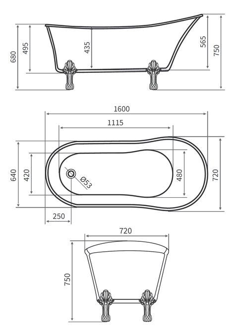 vasca ovale prezzo vasca da bagno ovale freestanding 160x72x75 stile classico