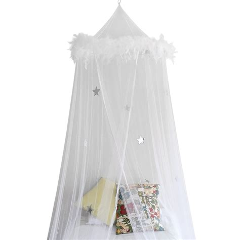 bed canopy mosquito net curtains  feathers  stars