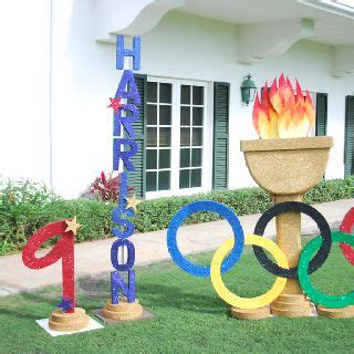 Olympic Themed Birthday Party  Just Bcause