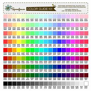 Free Printable Rgb Color Chart Color Guide Swatch 171 Colors Hex Codes Spoonflower