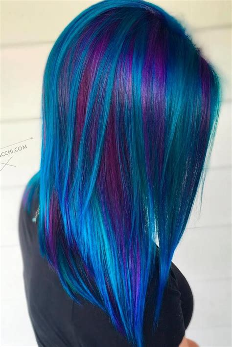 60 Fabulous Purple And Blue Hair Styles Cool Hair Color