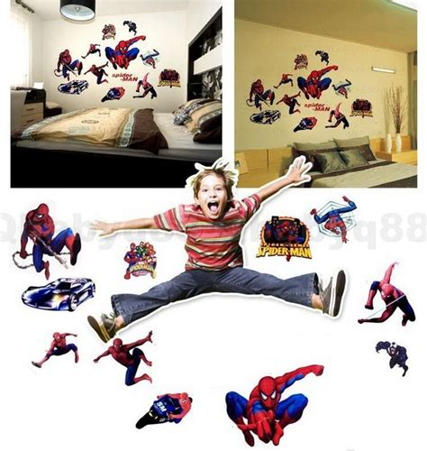 spider man hero wall decals removable stickers home diy