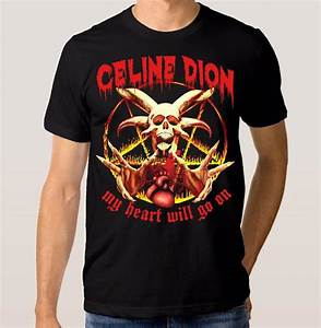 T Shirt Musique Rock : celine dion punk rock t shirt my heart will go on men 39 s ~ Melissatoandfro.com Idées de Décoration