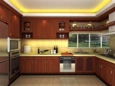 wooden kitchen interior design wooden kitchen design beautiful lights and ceiling design 1639