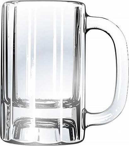 Beer Empty Mug Clip Clipart Blank Glass