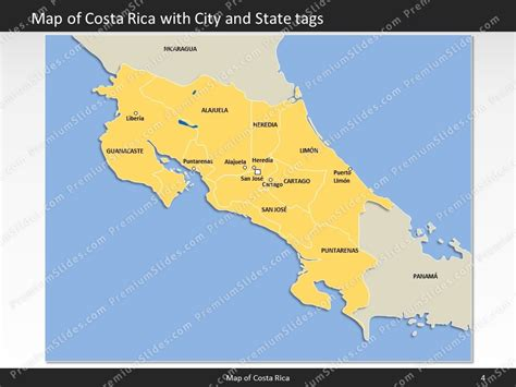 costa rica map template costa rica map editable map of costa rica for powerpoint
