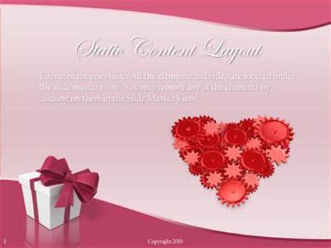 valentine hearts  powerpoint template