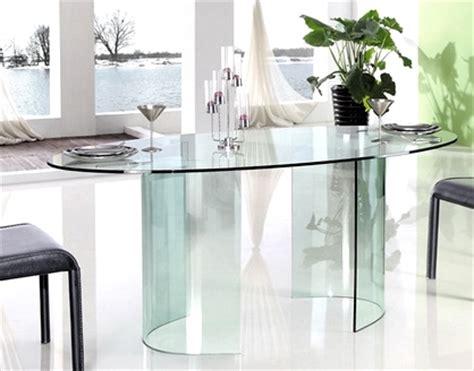 table 224 manger ovale en verre lestendances fr