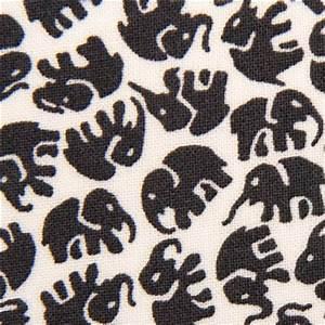 white animal fabric grey elephants by Michael Miller
