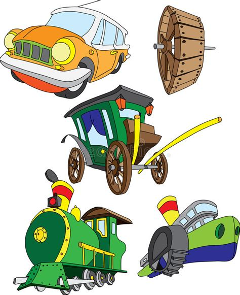Different Types Of Vehicles Stock Illustration
