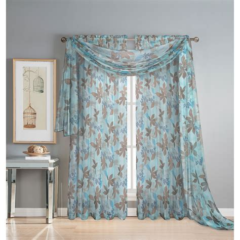 window elements ashville printed sheer scarf curtain panel