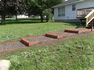 Diy Pea Gravel Patio Ideas by Building Steps On A Slope