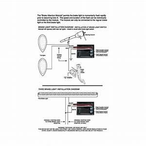 Brake Attention Flasher Module For Led Brake Lights