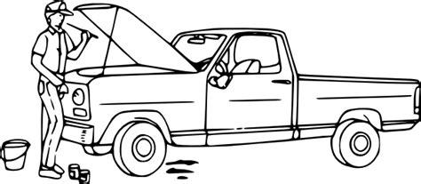 fix clipart black and white fix a truck clip at clker vector clip