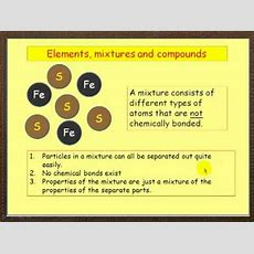Elements, Mixtures And Compounds Youtube