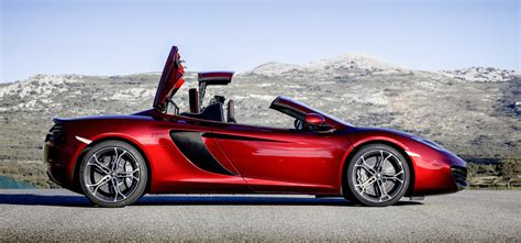 mclaren mp  spider britains  drop top supercar