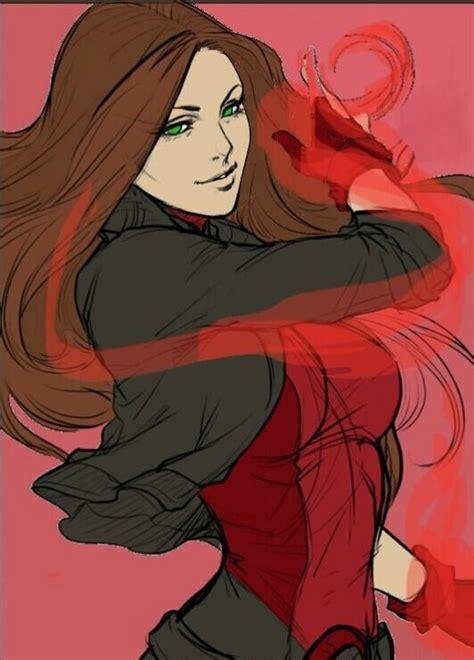 fanart da wanda maximoff marvel fan art scarlet witch