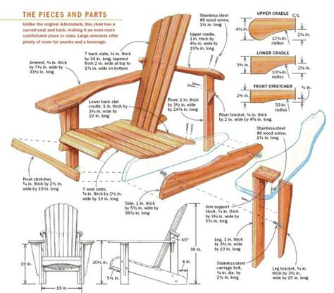 build  adirondack chair startwoodworkingcom
