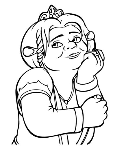 shrek coloring pages shrek and fiona coloring pages sketch coloring page