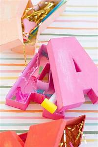 20 amazing eye catching diy letters diy to make With letter shaped gift box
