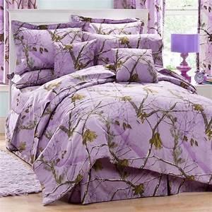 Realtree, Ap, Lavender, Camo, 8, Pc, Full, Comforter, Set