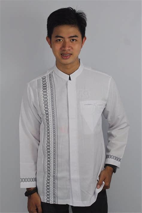 jual til keren baju koko pria lengan panjang kemeja koko kode adp 110 putih di lapak variety