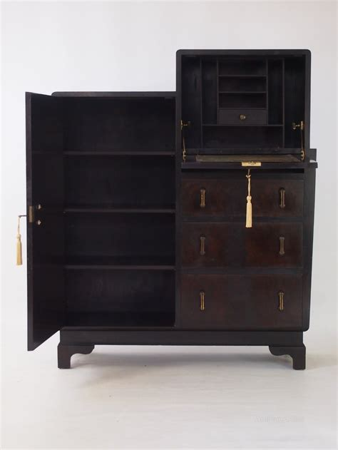 stock bureau direct deco walnut bureau cabinet antiques atlas