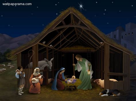 baby jesus in the stable nativity wallpaper picture of jesus christ barn