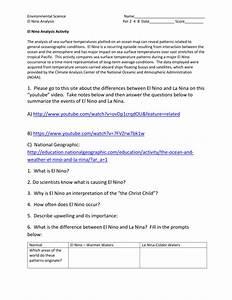 35 El Nino Worksheet Answers