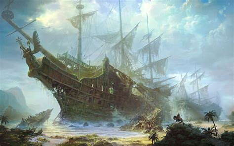 Anime Pirate Wallpaper - pirate ship wallpapers for desktop wallpapersafari