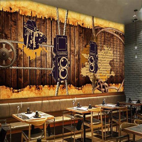 Background music for fashion store. photo wallpaper retro nostalgic wallpaper restaurant studio mural board rope gear bar coffee ...
