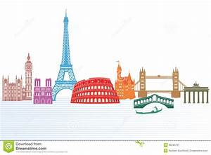 Travel clipart europe travel - Pencil and in color travel ...