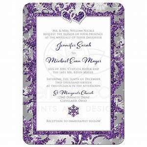 Winter Wonderland PHOTO Wedding Invitation | Purple ...