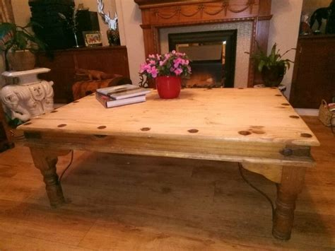 Coffee table makeover from orange pine to black chalk paint with a rich stain top gives this coffee table redo a thumbs up. BEAUTIFUL LARGE RUSTIC SOLID PINE FARMHOUSE COFFEE TABLE , COULD DELIVER. | in Newcastle, Tyne ...