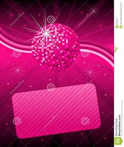 Pink disco background stock vector. Image of club, globe ...