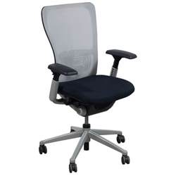 haworth zody used task chair white mesh national office